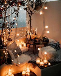 Small Balcony Decor, Balcony Design, Room Ideas Bedroom, Bedroom Decor, New Year Table, Aesthetic Room Decor, Cozy Room, Dream Rooms, House Rooms