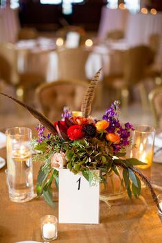 feathers in flower arrangements or something else that's not just flowers Wedding Centerpieces, Wedding Table, Antler Wedding, Elk Antlers, Pheasant Feathers, Bohemian Design, Beautiful Couple, Event Design, Floral Arrangements