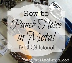 How to Punch Holes in Metal for Jewelry