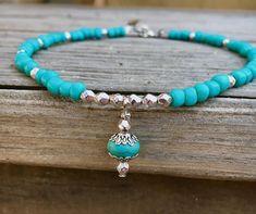 Beach Anklet Boho Anklet Hippie Anklet Turquoise Anklet
