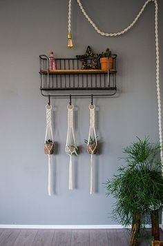 These handmade and beautiful macrame plant hangers are made of a ecru colored natural cotton cord. The cotton cord is made of natural fibers and is 1/8 inch thick. I have searched long and hard to find the best cotton cord available, after trying every single supplier I have found a