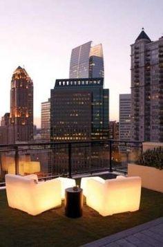 Arredamento per terrazzo - Sedute luminose
