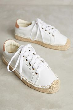 Soludos Leather Espadrille Sneakers - anthropologie.com
