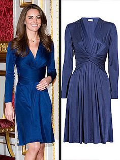 the blue engagement dress