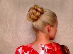 Short on time and cash? No problem! It doesn't mean you have to be short on celebrity style!    If you have hair long enough to go down to your shoulders, style it into a ponytail and follow along with this hairstyling tutorial to learn how to create an elegant messy updo bun, similar to the hairdo you see Megan Fox sporting occasionally. This updo bun can be done is less than five minutes! And it looks professionally styled!