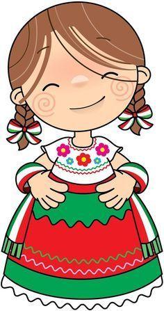 EDUCACIÓN PREESCOLAR: IMÁGENES PARA CONMEMORAR LAS FIESTAS PATRIAS DE MEXICO Mexican Party, Cute Images, Altered Books, Paper Dolls, Cute Art, Folk Art, Preschool, Paper Crafts, Cartoon