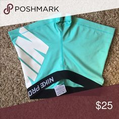 Nike pros New! Didn't fit me. My loss your gain. Tiffany Blue, 2in inseam. Nike Shorts