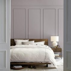 Purple .01 paint from Crate & Barrel - lavender with a haze of grey