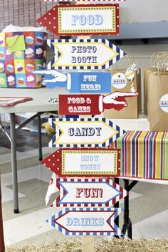 family reunion on Pinterest | Carnival Themes, Circus Photo Booths ... More Carnival Themed Party, Carnival Birthday Parties, Circus Birthday, Circus Theme, Circus Party, Birthday Party Themes, Themed Parties, 21st Birthday, Carnival Decorations