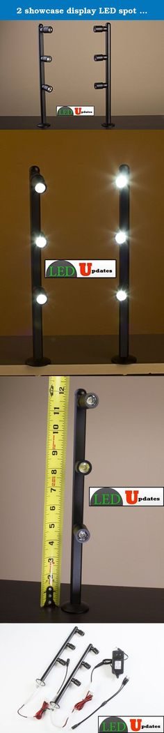 2 showcase display LED spot Light black pole style FY-53 set with UL listed 12v 2A power supply. These bright LED spot light is very energy efficient, each light angle can be adjust. this can highlight your product in a unique way perfect for high end jewelry, watches, antique or boutique stores. It comes with 2 LED light and a UL listed 12v Adapter and it's very easy to install into any cabinet or showcase. Support Phone: 773-581-9083 website: www.ledupdates.com.