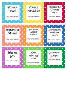 Do you want to praise your students for positive behavior ...
