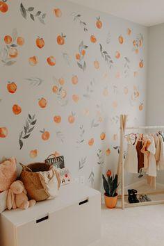 Peaches Photo by Jess McLaren Baby Bedroom, Baby Room Decor, Nursery Room, Girls Bedroom, Bedroom Decor, Nursery Ideas, Room Ideas, Peach Rooms, Peach Walls