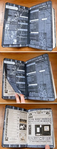 Activité : Wreck this Journal / Saccage ce carnet - mes pages Harry Potter