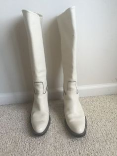 Barbra Bui White Leather Boots Size 37 Style Fashion High end Couture   eBay
