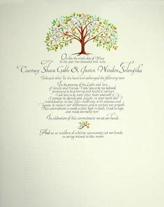Quaker Wedding Certificates