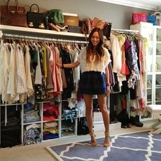 Aimee Song in her old closet