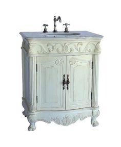 """27"""" Petite Powder Hayman Bathroom sink vanity Model BA-2917W-AW-27 Chans Furniture http://www.amazon.com/dp/B00CC0GOOW/ref=cm_sw_r_pi_dp_33fjub1FMCPQW"""
