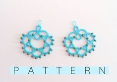 Flora - Original tatting pattern, tatted earrings pattern for shuttle tatting