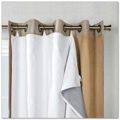 blackout liner in white for window curtain