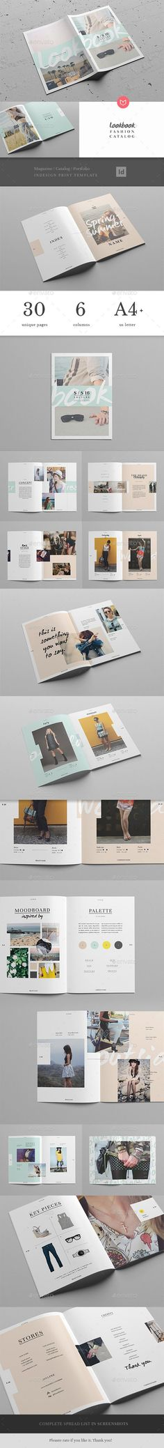 Lookbook / Fashion Magazine + Catalogue Template #design Download: http://graphicriver.net/item/lookbook-fashion-magazine-catalogue/12444832?ref=ksioks: