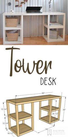 Diy Furniture Table, Diy Furniture Plans Wood Projects, Woodworking Projects Diy, Pallet Furniture, New Furniture, Furniture Makeover, Home Projects, Furniture Design, Furniture Storage