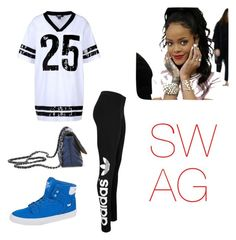"""""""SWAGGGG!!!!"""" by aranzabiebs ❤ liked on Polyvore featuring beauty, DKNY, adidas Originals, Supra, Steve Madden and Jacquie Aiche"""