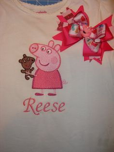 Peppa Pig  Shirt with Bow