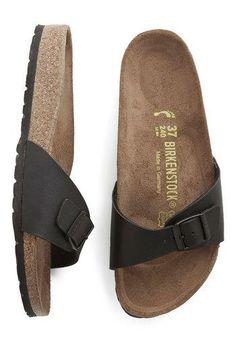 Zest Foot Forward Sandal in Black by Birkenstock. Want!