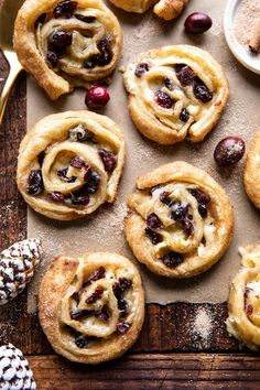 These (almost idiot proof) 5 Ingredient Cranberry Brie Cinnamon Puff Pastry Swirls.a festive sweet and savory appetizer ideal for holiday entertaining! Frozen Puff Pastry, Flaky Pastry, Half Baked Harvest, Snacks, Holiday Recipes, Holiday Foods, Winter Recipes, Sweet Tooth, Dessert Recipes