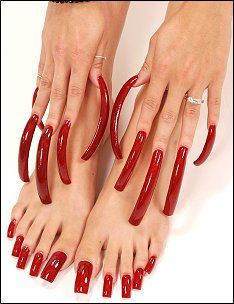 Com - Hand Modeling - Fingernail Modeling - Foot Modeling Perfect Nails, Gorgeous Nails, Pretty Nails, Red Toenails, Long Fingernails, Nail Swag, Acrylic Toe Nails, Long Red Nails, Baby Pink Nails