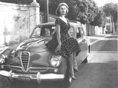 Sophia Loren and Alfa Romeo 1900 Super