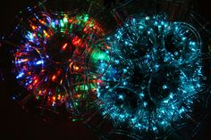 Sparkle Balls made out of Solo cups and mini Christmas lights. (Video on how to make at the bottom of blog post )