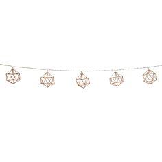 Copper Geometric LED String Lights
