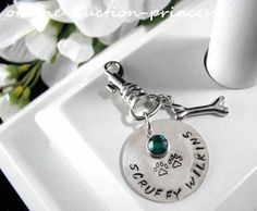 Sterling Silver Hand Stamped Pet DOG CAT Collar by auctionprincess, $34.00