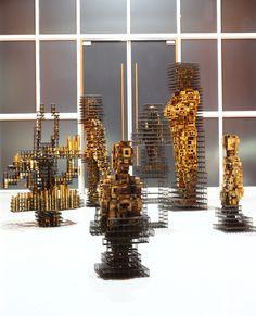 art,sculpture,wood,steel,installation,architecture