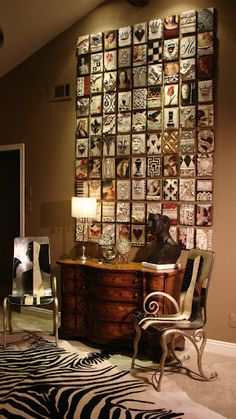 this wall is amazing! Sid Dickens Memory Blocks are available at Gift of Art on Richmond Row in London, Ontario, Canada. Room Decor, Wall Decor, Inspiration Wall, Hanging Art, Decoration, Home Accents, Home Art, Sweet Home, Gallery Wall