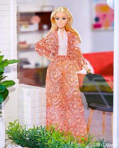 I love a long dress for lounging in style. ❤️ #barbie #barbiestyle