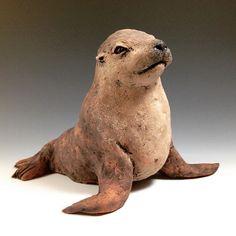 Sea lion's professional portrait.  #sealion #ceramicanimals #sculpture #ceramics #clay #contemporaryceramics #contemporarysculpture