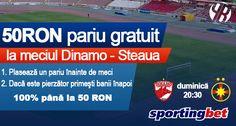 50 RON pariu gratuit la Dinamo - Steaua - Ponturi Bune