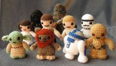 Cute amigurumi! If you follow the wookie link, it takes you to a pattern, but the rest she has for sale on Etsy.