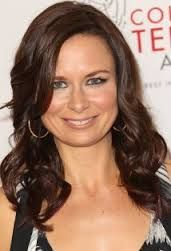 Mary Lynn Rajskub - sitting directly behind me at lunch with her family at a restaurant on Ventura Blvd. in Studio City..her little boy is cute!!