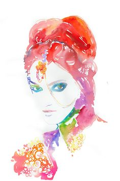 Art Painting  Watercolour Fashion by silverridgestudio on Etsy, $300.00