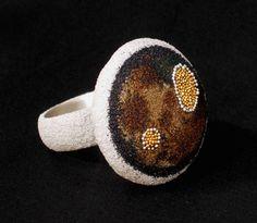 Arata Fuchi  Ring:2009  Silver, Silver powder, Oxidized silver powder, Fine gold, Fine silver