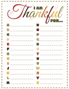 Things To Be Thankful For – Thanksgiving Activity Sheet Thanksgiving printable, the things to be thankful for list. Perfect Thanksgiving activity for kids. Thanksgiving Activities For Kids, Thanksgiving Prayer, Thanksgiving Parties, Thanksgiving Decorations, Thanksgiving Cookies, Thanksgiving Traditions, Thanksgiving Appetizers, Thanksgiving Recipes, Thanksgiving Outfit