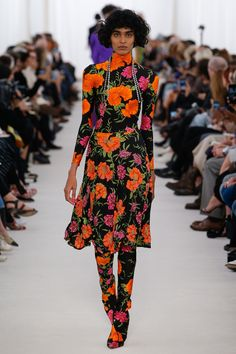 Balenciaga | Spring 2017 Ready-to-Wear collection | RTW fashion | Bright Floral | Model: Radhika Nair