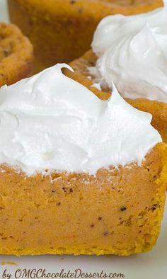 OMG Pumpkin Pie Cupcakes | pumpkin desserts, recipes