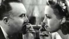 "Famous scene from the movie ""Kristian"" (1939) with Oldrich Novy and Adina Mandlova."