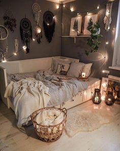 Cute Bedroom Decor, Cute Bedroom Ideas, Room Design Bedroom, Bohemian Bedroom Decor, Room Ideas Bedroom, Girl Bedroom Designs, Bedroom Decorating Ideas, Decor Room, Trendy Bedroom