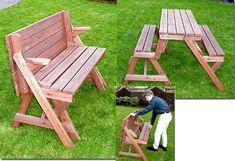 Holzbank Tisch Sitzgarnitur clevere Sache die Kombibank - Gartenbank: Amazon.de: Garten