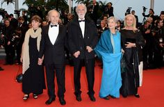 The movie by Michael Haneke, Amour, was awarded the Palme d'or. Here, the director with his 2 actors Jean-Louis Trintignant (and his wife on the left) and Emmanuelle Riva, and Susan Haneke
